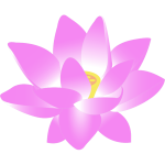 Vector clip art of lotus blossom