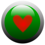 Vector clip art of heart button