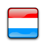 Luxembourg flag vector button
