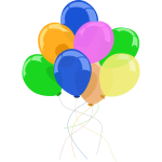 Colorful balloons image