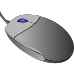 Vector image of computer mouse