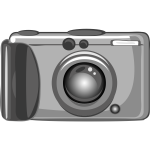 Vector clip art of amateur photography camera