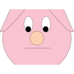 Sad piggy vector illustration
