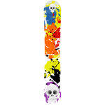 Colorful snowboard vector image