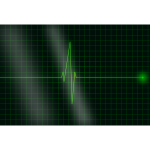 Vector image of electrocardiogram