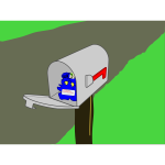 Vector graphics of home mailbo