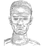 man face sketch 01 SVG