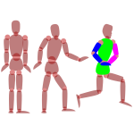 Human figures exercising