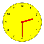 Analogue clock vector image