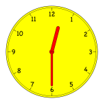 Analogue clock vector graphics