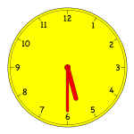 Analogue clock vector clip art