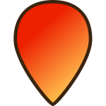 Map location pin icon vector image