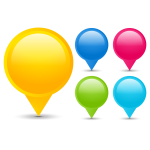 Location pins selection vector image