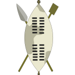 Zulu warrior equipment vector drawing