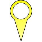 Yellow pin vector image