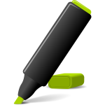 Vector image of green marker