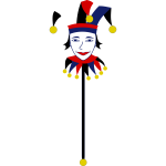 Colorful jester