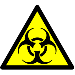 Biohazard warning vector sign