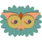 Bird mask vector image