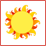 Fiery Sun icon vector graphics
