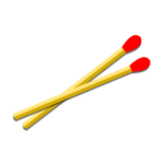 Two wooden matches vector clip art