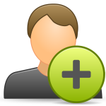 Vector clip art of add contact icon