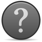 Vector illustration of grayscale matt finish question mark button