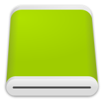 Vector image of green hard disk drive icon