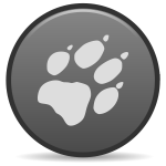 Vector graphics of round claw icon