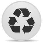 Recycle emblem icon