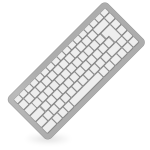 Grey computer keyboard