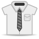 Shirt and tie icon