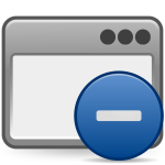 matt icons window minus