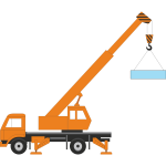 Vector illustration of a crane