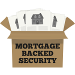 Mortgage backed security sign vector illustration