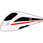 Intercity express train vector image