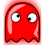 Red ghost icon vector image
