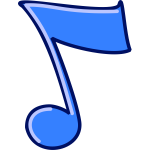 Musical note vector clip art