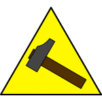 Hammer sign vector image