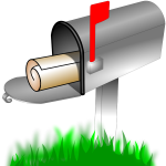Vector drawing of outdoor home mailbox