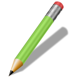 Sharp green pencil vector clip art