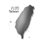 Gray map of Taiwan vector image