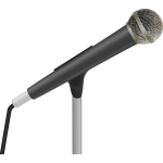 Speaker's microphone vector drawing