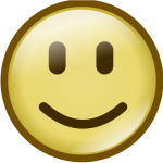 Vector image of simpe smiley