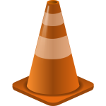 Vector image of traffic cone