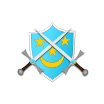 Coat of arms with two swords