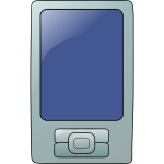 Touchscreen mobile phone vector icon