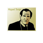 Vector drawing of poster of Miguel Torga