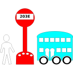 Bus station icons