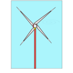 Windmill with background